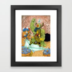 Quick Knight Smoke! Save Ochtlipat from the Cyclops' Teleportamid! Framed Art Print