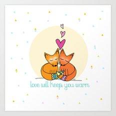 Foxy Love Art Print