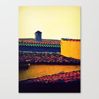 Red Tile Roof Canvas Print