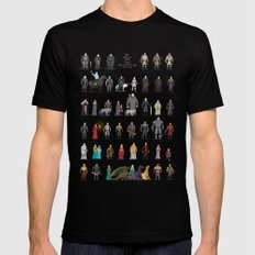 The Pixel Game of Pixel Thrones Mens Fitted Tee Black SMALL