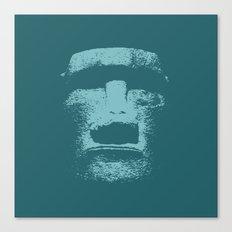 Maoi Head Canvas Print