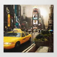 Rainy Day in New York Canvas Print
