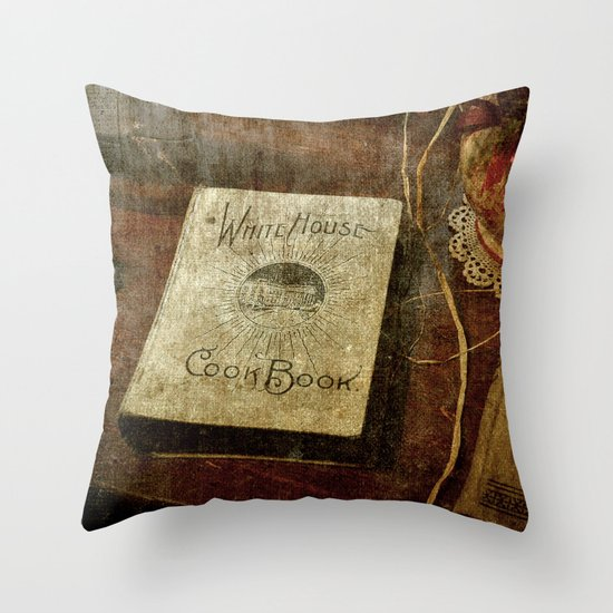 White House Cookbook Throw Pillow