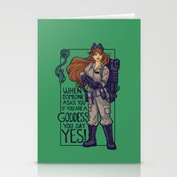 Ghostbuster Goddess Stationery Cards
