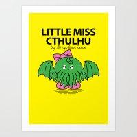 Little Miss Cthulhu Art Print