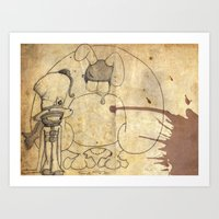 Mad Hatter and March Hare Art Print