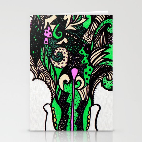 the F vomit Stationery Card
