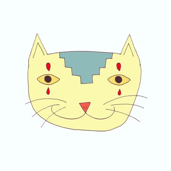 Aztec Cat Art Print
