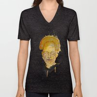 The woman with the black necklace Unisex V-Neck