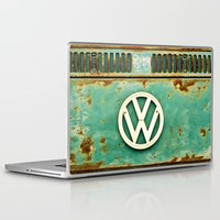 vw Laptop & iPad Skins featuring VW Retro by Alice Gosling