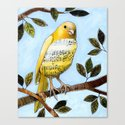 Songbird 3 ... Collage Bird Art Canvas Print
