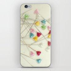 I heart pins iPhone & iPod Skin