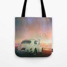 NEVER STOP EXPLORING A SUNDOWN Tote Bag