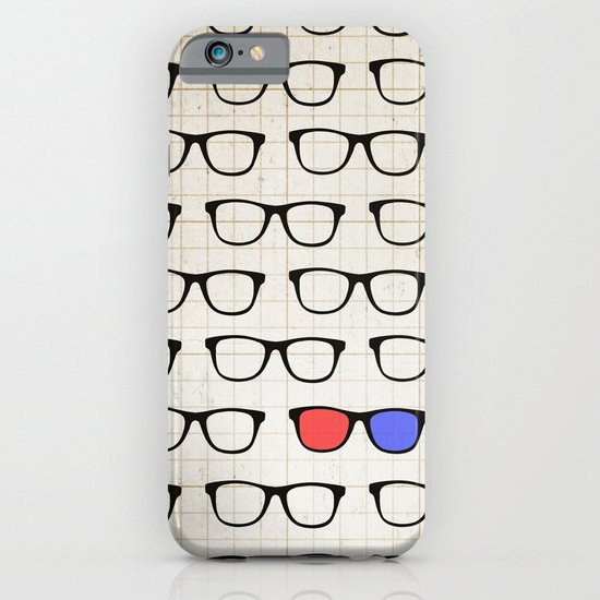 3D Hipster iPhone & iPod Case