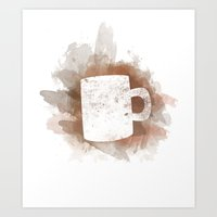 Coffee Stain Art Print