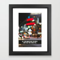 marina + the diamonds - world. Framed Art Print
