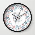 A bunch of flowers is just my cup of tea Wall Clock