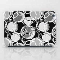 Simple circles on black iPad Case