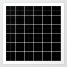 Black White Grid Art Print