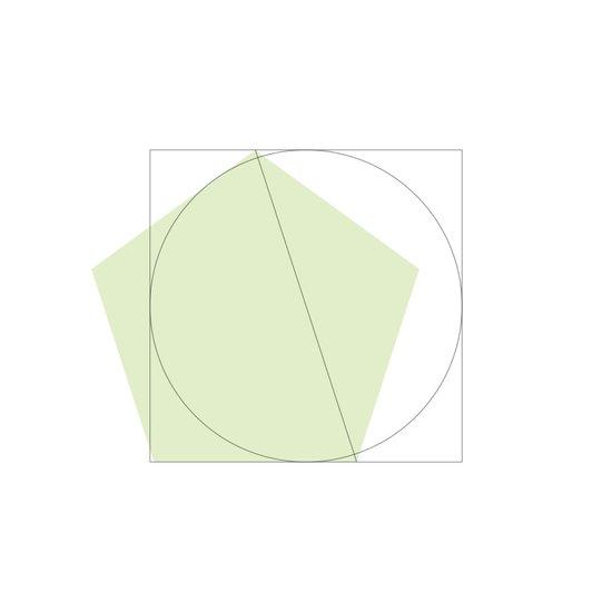 #146 Extrapolation – Geometry Daily Canvas Print
