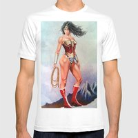 Wonder W Mens Fitted Tee White SMALL