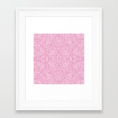 Ab Lace Pink Framed Art Print