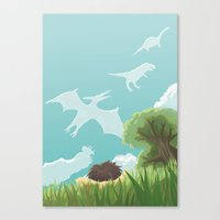 Dinosaur Clouds Canvas Print