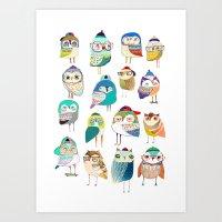 Owls, Owl Art, Owl Print… Art Print