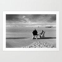 Wait and Sea Art Print