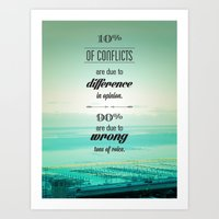 CONFLICTS Art Print