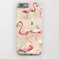 Flamingos Vintage Pink  iPhone 6 Slim Case