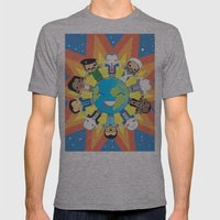 THE WORLD ROBOTIC Mens Fitted Tee Athletic Grey SMALL