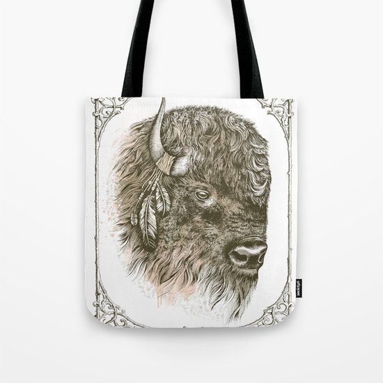 Portrait of a Buffalo Tote Bag
