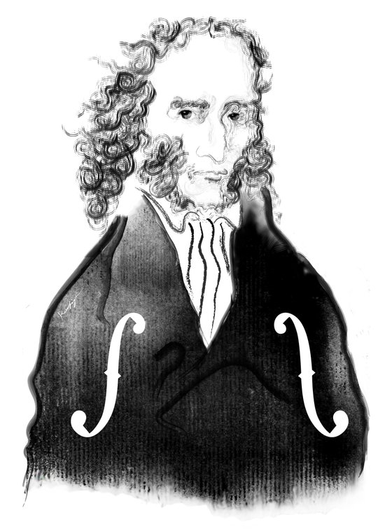 Niccolo Paganini Art Print