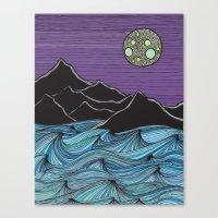 Meet Me Under The Moon Canvas Print
