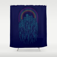 Neon City Shower Curtain