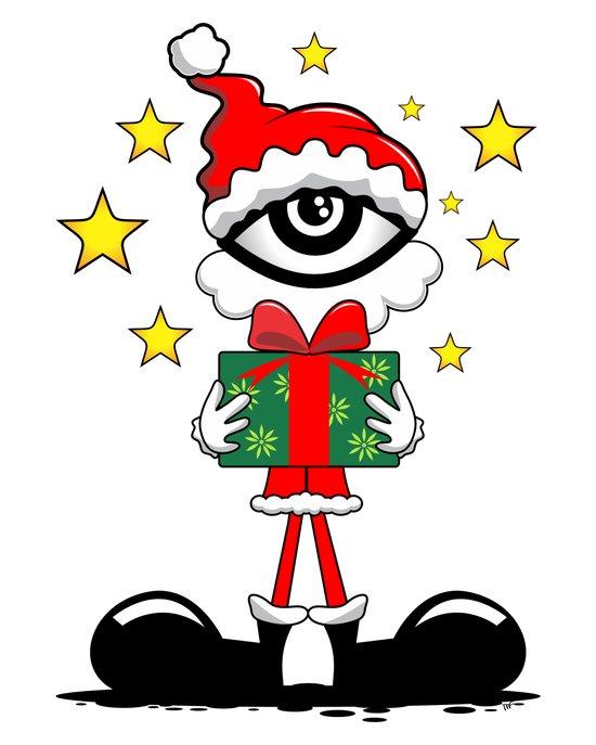 Eye Christmas II Art Print
