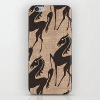 Burlap Horses iPhone & iPod Skin