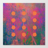 Dotted Abstract Canvas Print
