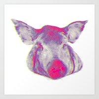 pork head Art Print