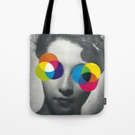 Tote Bag featuring Psychedelic Glasses by Flirst