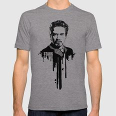 Avengers In Ink: Iron Ma… Mens Fitted Tee Tri-Grey SMALL