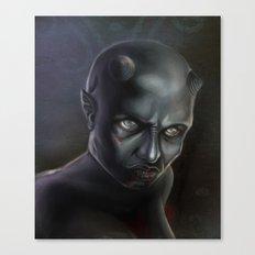 Demonoid Girl Portrait Canvas Print