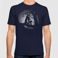 A Wrong Turn Mens Fitted Tee Navy SMALL