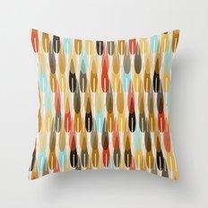 modern feathers Throw Pillow