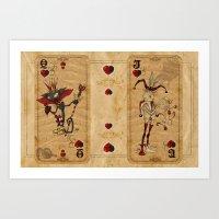 Oddity Playcards - Joker… Art Print