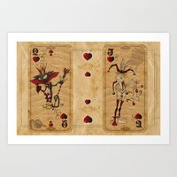 Oddity Playcards - Joker… Art Print