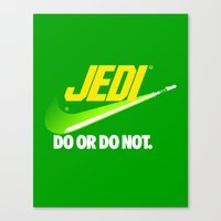Brand Wars: Jedi - green lightsaber Canvas Print