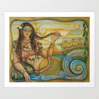 Mermaid Island Art Print