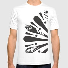 p bird SMALL White Mens Fitted Tee